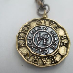 Waxing Poetic Circle of Love pendant  & necklace